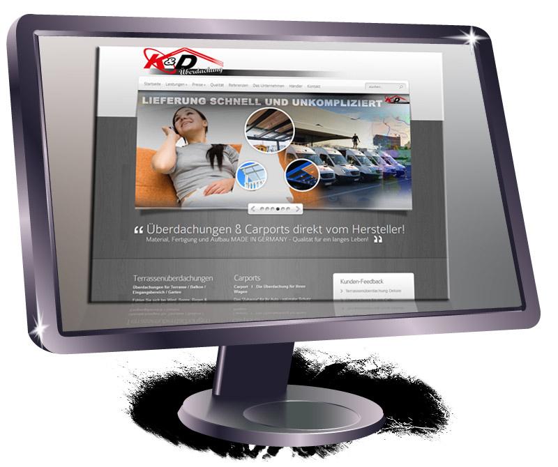 Website Überdachungsfirma K&D Überdachungen