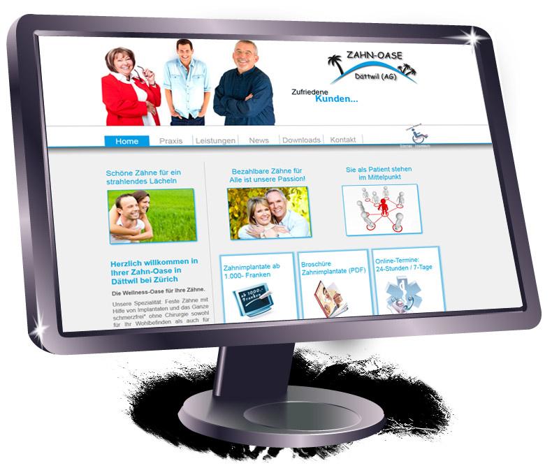 Website für einen Zahnarzt