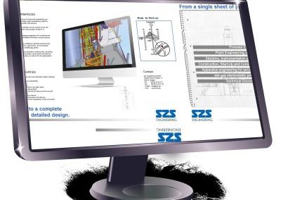 Folder für ein Industrie-Unternehmen