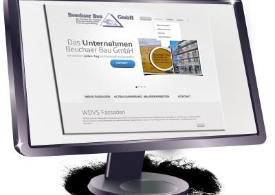 Website für eine Baufirma