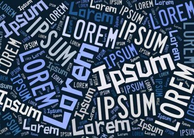Warum steht da Lorem Ipsum?