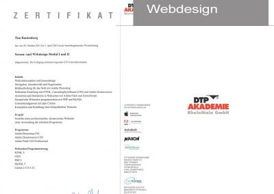 Zertifikat Webdesign