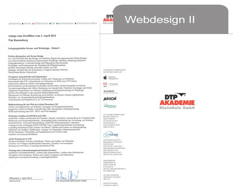 Webdesign II