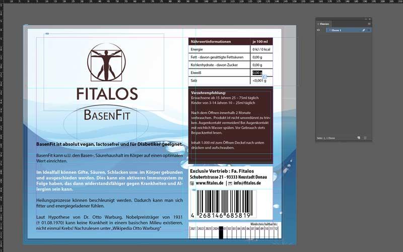 Etikett-Basenfit