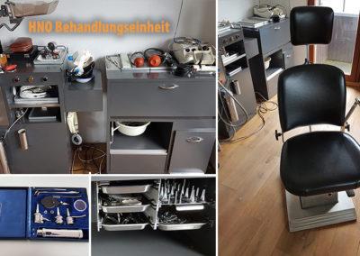 Behandlungseinheit mit Stuhl und Zubehör / Instrumenten für HNO Arzt / Praxis zu verkaufen (Gebraucht)