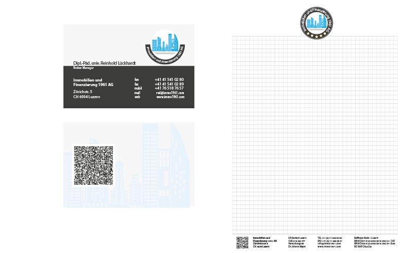 Visitenkarten-Briefpapier-und-Blöcke-für-eine-Schweizer-Immobilien-Firma