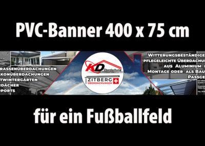 PVC Banner für ein Fußballfeld
