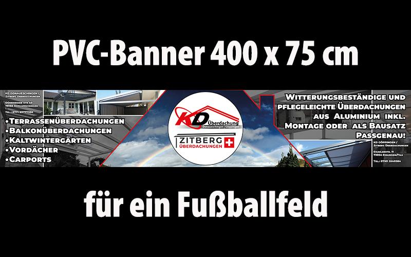 Banner-Fußballfeld