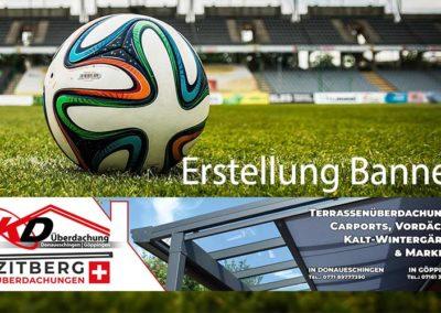 Erstellung Banner als Werbung für ein Fußballfeld