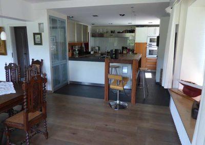 Blick auf die offene Küche