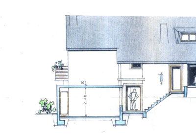 Haus Ansicht Straße Eingang