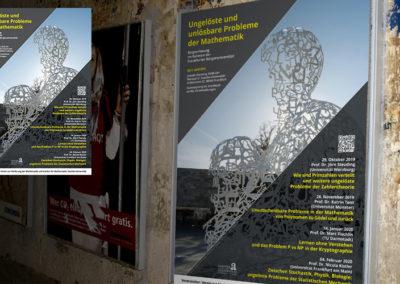 Plakat: Entwurf und Fertigstellung für die Goethe Universität in Frankfurt