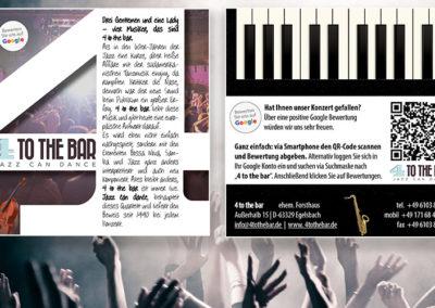QR-Code-Google-Bewertung Flyer für eine Jazz Band