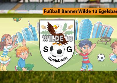Fußball Banner Wilde 13 Egelsbach