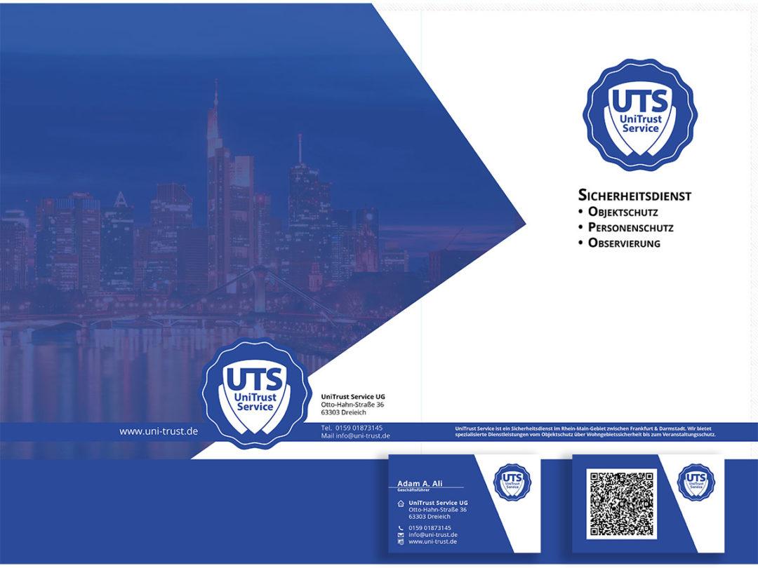 Business Folder und Visitenkarten